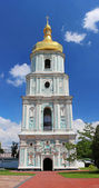View on bell tower of Saint Sophia Cathedral in Kiev, Ukraine — Stock Photo