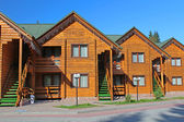 Wooden cottage in the resort Bukovel. Ukraine — Stock Photo
