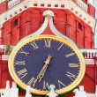 Kremlin chiming clock of the Spasskaya Tower. Moscow. Russia — Stock Photo