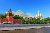 Moscow Kremlin and river Moskva, Moscow, Russia — Stock Photo