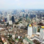BANGKOK, THAILAND - JUNE 2: Panorama view over Bangkok on Junу — Stock Photo #27149335
