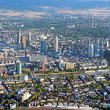 Panoramic view of Skyline Frankfurt am Main, Germany from the plane — Stock Photo #30377311