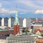 Sankt Johannes Kyrka and other buildings in Stockholm, Sweden — Stock Photo