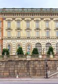 The facade of Stockholm Royal Palace (Kungliga slottet) in old town (Gamla stan), Stockholm, Sweden — Stock Photo