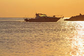 Golden sunset in Greece — Stock Photo