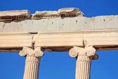 Ionic columns of the Erechtheion, Athens, Greece — Stock Photo