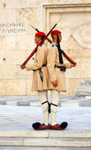 Changing guards near parliament on September 07, 2013 in Athens, Greece — Stock Photo