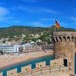 View of Tossa de Mar village from old castle, Costa Brava, Spain — Stock Photo