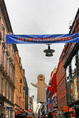 Halloween decoration on the street in Stockholm, Sweden — Stok fotoğraf