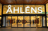 Ahlens is a Swedish chain of department stores, located in almost every city in the country, and with several stores in the major cities, including 18 stores in Stockholm — Stock Photo