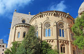 Montserrat Monastery is a beautiful Benedictine Abbey high up in the mountains near Barcelona, Spain — Stock Photo