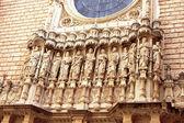Detailní pohled na vstup do kláštera montserrat, španělsko — Stock fotografie