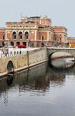 Norrmalm borough, with famous Royal Swedish Opera, Stockholm, Sw — Stock Photo
