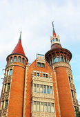 Casa de les Punxes in Barcelona. The historical building in Modernism style was built 1902 - 1905 and designed by architect Josep Puig i Cadafalch — Stock Photo