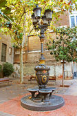 Antique Street light in Barcelona, Spain, Europe — Stock Photo