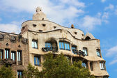 Casa Mila or La Pedrera in Barcelona, Spain. This famous building was designed by Antoni Gaudi and is one of the most visited of the city — Stock Photo