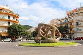 Skulptur på väg lloret på europeiska by tossa de mar, costa brava, spanien — Stockfoto