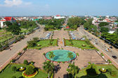 View from Patuxai in Vientiane, Laos — Stock Photo