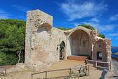 Tossa de Mar Church Ruin, Costa Brava, Catalonia, Spain — Stock Photo