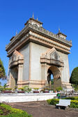 Patuxai, Landmark of Laos, Vientiane — Stock Photo