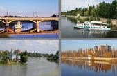 River Southern Bug in Vinnitsa, Ukraine — Stock Photo