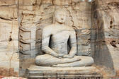 Unique monolith Buddha statue in Polonnaruwa temple — Stock Photo