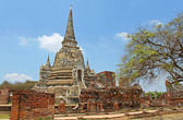 Buddhist temple ruins of Wat Mahathat in Ayutthaya, Thailand — Stock Photo