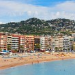 People are resting in european village Lloret de Mar, Costa Brava, Spain — Stock Photo #45048671