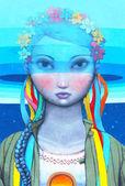 в рамках фестиваля «французская весна» французский художник жюльен-муллан и художник алексей кислов из севастополя представил новые граффити в киеве, украина — Стоковое фото
