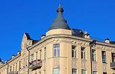 Building with on famous Andriyivskyy Descent in Kiev, Ukraine — Zdjęcie stockowe