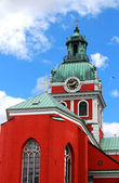 Saint James's Church is a church in central Stockholm, Sweden, dedicated to apostle Saint James the Greater, patron saint of travellers. — Stock Photo