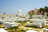 Arabic cemetery next to Ribat in Monastir, Tunisia — Stock Photo