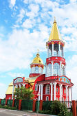 Belltower of church in Obolon district, Kyiv, Ukraine — Stockfoto