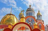 Chiesa nel distretto di obolon kiev ucraina — Foto Stock