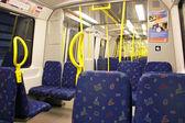 внутри поезда метро, в стокгольме, швеция — Стоковое фото