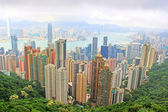 Hong Kong skyline. View from Victoria Peak. — Stock Photo