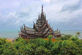 Sanctuary of Truth temple (also called Wang Boran and Prasat Mai). Pattaya, Thailand — Stock Photo