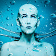 Underwater android - Stock Photo