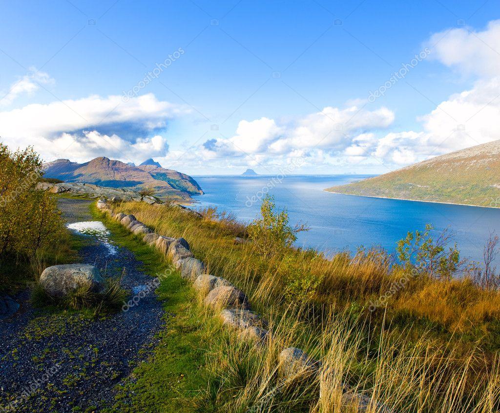挪威风景 - 图库图片