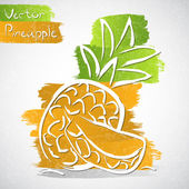 Pineapple — Stock Vector