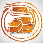 Karamell — Stockvektor
