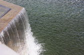 Discharges into the pond — Stock Photo