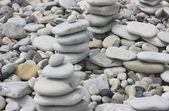 Pyramid of pebbles — Stock Photo