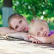 Beautiful young mother and her daughter — Stock Photo