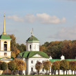 Kuskovo estate. View of the palace church with a bell tower — Stock Photo