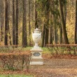 Decorative vase in park — Stock Photo