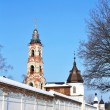 Belfry and wall tower of  St. Nicholas Berlyukovsky Monastery - Stock Photo