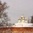 Monastery in winter - Stock Photo