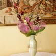 Vase with flowers — Stock Photo