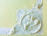Stucco on the ceiling of historic building — Stock Photo